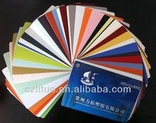 película de PVC color sólido para la decoración