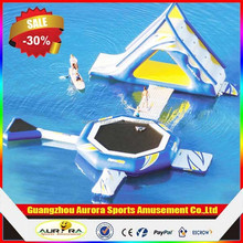 New finished inflatable floating water slide with factory price