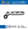 Trauma Plate for Phalange Orthopedic Implants,L-shaped Titanium phalange fracture Plates(Curved 120)