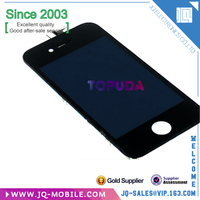 High quality Replacement Mobile Phone Display Screen for iPhone 4,LCD Touch Frame Assembly for iPhone 4