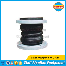 Double sphere flanged flexible rubber compensator from China Supplier