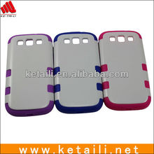 Wholesale PC+Silicone case for samsung galaxy s3 i9300