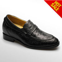 Fashion stylish cow leather lace-up dress men shoes/Taller elevator shoes for men