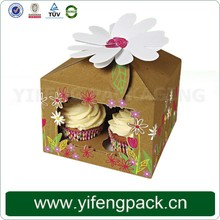 Birthday cake cardboard packing box with handle printing