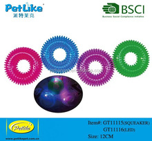 most popular TPR material LED light dog toy