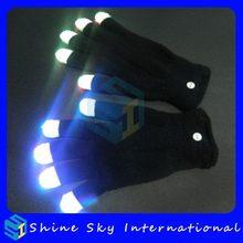Design Stylish Brightness Led Flashing Gloves For Party