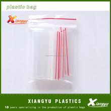 Transparent PE Pure White plastic zipper bag
