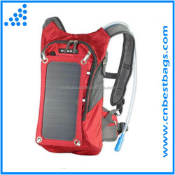 Hydration Backpack With 1.8L Bladder Bag And 7 Watts Solar Powered Panel