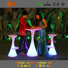 Li-ion battery plastic led shining hotel table and chairs, used hotel furniture for sale malaysia