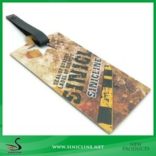 Sinicline Vintage Thick Paper Card Tag with Leather Band