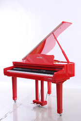 HUANGMA HD-W120 Wooden Red Black Grand Keyboard Piano For Sale