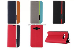New three-colour Flip Stand Blue TPU+PU Leather Case for Samsung Galaxy Core Prime SM-G360 G3606
