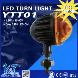 4x Motorcycle Moto 12 LED Turn Signal Indicators Blinker Amber Light Universal