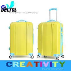 2015 new arrival hot sale abs luggage set trolley bag/trolley luggage with 4 universal wheels