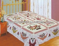 Cotton flower quilt sets applique bedspreads