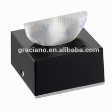 JN8901E Black Squre Decorative Fancy Public Car Wholesale Wall Mounted Plastic Facial Mini Tissue Box