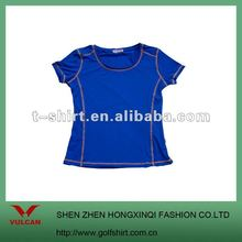Dark blue newest dry fit short sleeve women sportswear