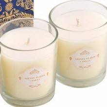 largo tiempo de quema de tarro de cristal blanco decoratvie citronela vela para la boda y la fiesta