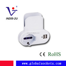 Universal Italian Power Adapter with USB charger