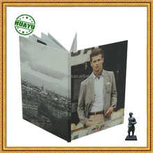 Men style hard cover full color book printing /Kodak digital press without MOQ