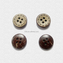 2015 yiwu ririfa new style Natural coconut button ,coconut shell button for childrens