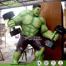 Vivid Life Size Fiberglass Hulk Movie Statues