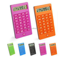 Hairong colorful desktop calculator mini pocket calculator 12 digits calculator