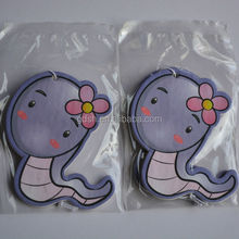 2014Guangzhou cute lemon scented hanging paper car air freshener