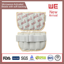 Microwave activated moisture heat pad pack for body use