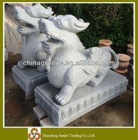 hand carved granite stone foo dogs carvings for sale