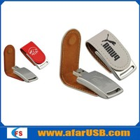 Custom logo leather usb flash drive for promotional gift 8gb