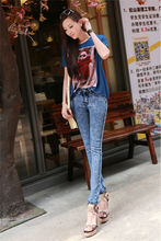 2015 new style fashion picture of jeans sexy women tight jeans 0331