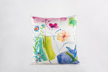 100%silk farbic pillow case/ fresh printed pillow cover/square throw pillow cases