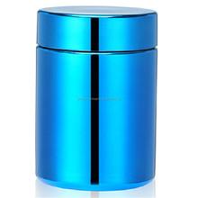 8oz/250ml blue Chromed/ Metallized Plastic HDPE pill Bottle