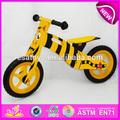 2015 venta caliente de alta calidad de madera de la bicicleta, popular de equilibrio de madera de la bicicleta, nueva moda de la bicicleta los niños w16c078-2
