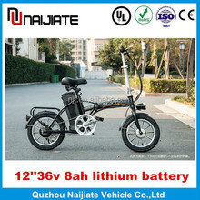 12 '' 36v 8ah lithium battery kids mini electric bikes made in China with CE, en14764