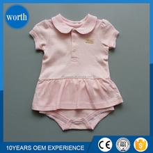 wholesale high quality cute baby girl romper printing baby dress romper