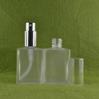 Unique frosted empty spray perfume bottle