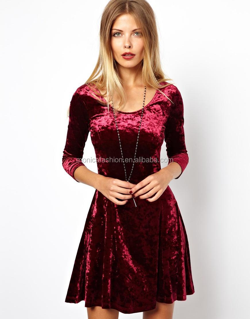 señoras vestido de invierno las mujeres 2014 casual de algodón a la ...