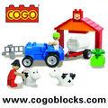 COGO ladrillos Médium granja sólido bloques plastico juguetes