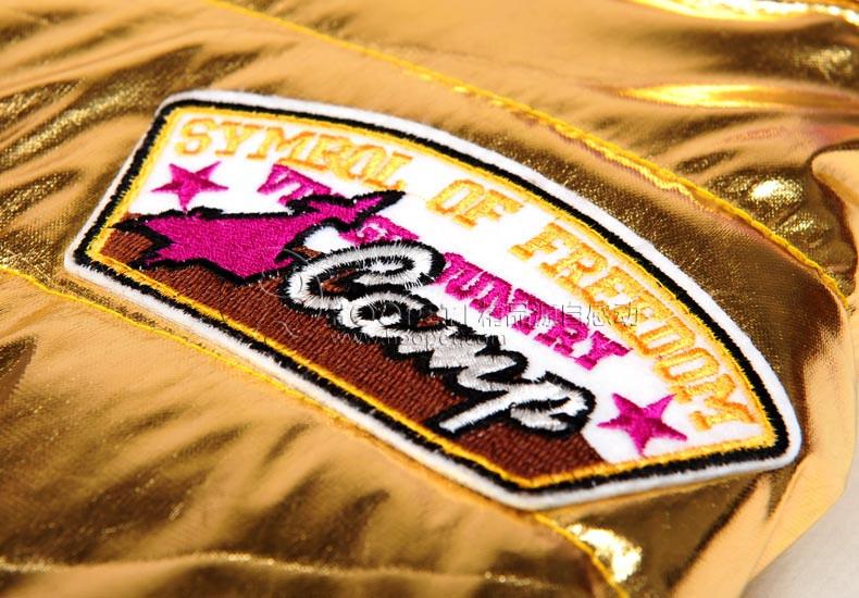 новейшие собака балахон fashional дизайн ветрозащитный яркий Золотой мигающий любимчика одежду большой/big щенка собака пальто зимняя теплая куртка