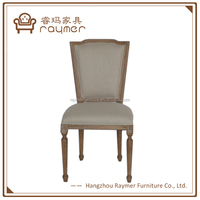 French square back upholstery oak carving reproduction dining chair