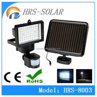 Solar Power 60 LED PIR Motion Sensor Light Wall Security Flood Light