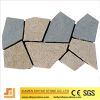 Irregular shape patterns paving stone