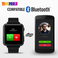 skmei wholesale price outdoor sports monitoring cheap smart watch bluetooth phone