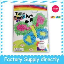 DIY Tissue Paper Art- Butterfly, Paper Kid Toy