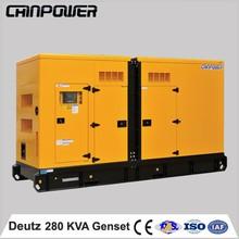50hz1500rpm 280kva silent type alibaba best sellers Deutz german diesel canopy generator