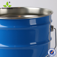 5 gallon metal tin pail with handle for chemical or paint use