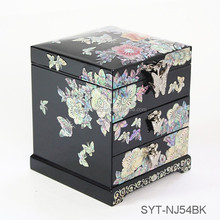 High level jewelry box wooden cosmetic case