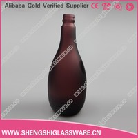 500ml frosted wholesale glass bottle for alcoholic beverage ,wine glass and vodka